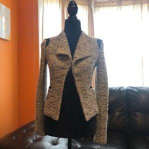 Banana republic Leather trim blazer size 0
